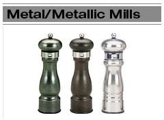 Metal Salt & Pepper Mills