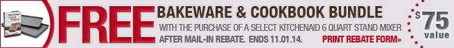 KitchenAid 6 Quart Rebate Promotion